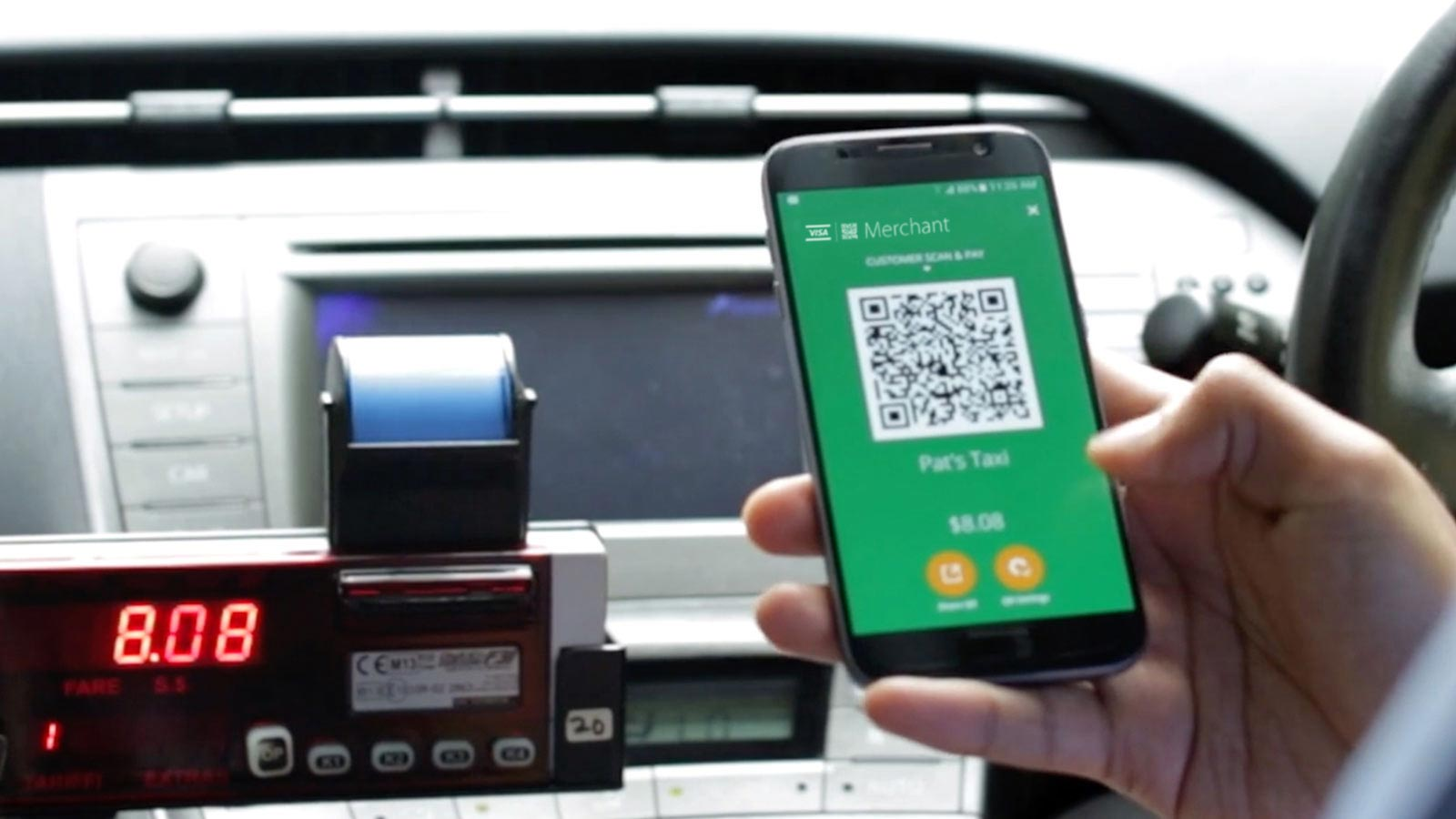 Use Scan to pay in taxi cabs